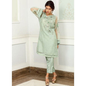 Iznik | Festive Collection '19 - D-13 GREEN LILY (2PC)