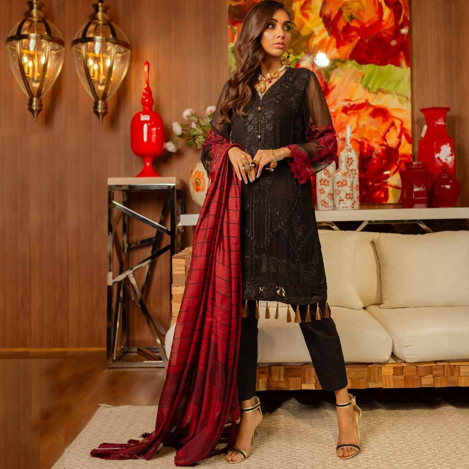pakistani designer cltohes chiffon collection