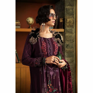MARIA.B | LINEN | DL-706-Purple - House of Faiza