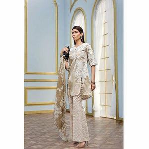 Mehindi 3 Pc Blended Chiffon FE-154