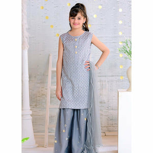Ochre | Cotton Silk Formal 3 Piece | OFW 275 Grey