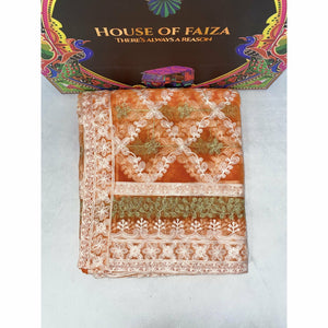 HOF | UNSTITCHED EMBROIDERED | 06 - House of Faiza