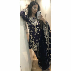 A-MEENAH Embroidered pakistani designer suits, salwar kameez uk, women's clothing uk