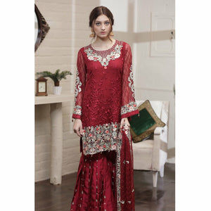 Maryum N Maria Chiffon Collection | Alyssum Red - FMM-07