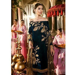 Iznik Festive Velvet Collection DEEP TEAL- (IVC-04)