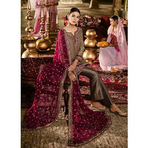 Iznik Festive Velvet Collection FUSHIA ROSE - (IVC-05)