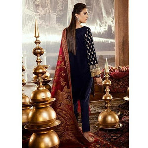 Iznik Festive Velvet Collection EVENING BLUE - (IVC-08)