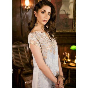 Iznik Festive Chiffon Collection - CLOUDY WHITE (IZK 01)