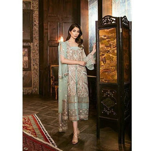Iznik Festive Chiffon Collection - PASTEL TURQUOISE (IZK 06)