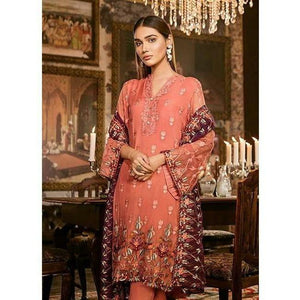 Iznik Festive Chiffon Collection - CORAL GOLD (IZK 09)