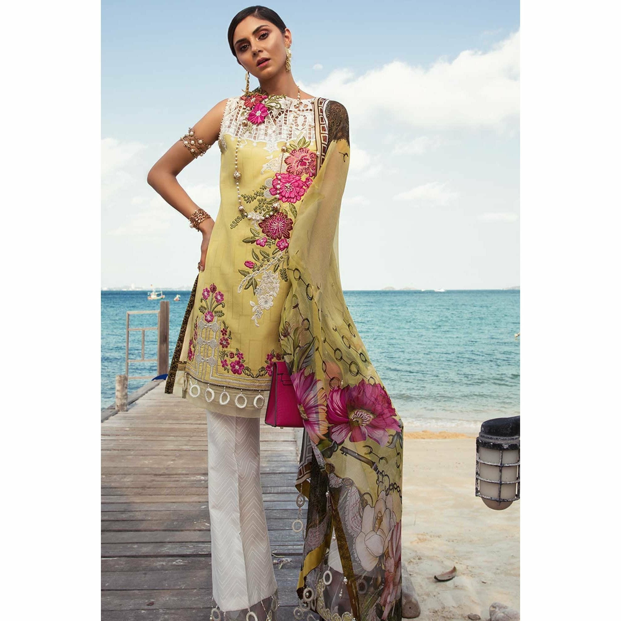 Noor by Saadia Asad | Luxury Lawn 19 - 02-A