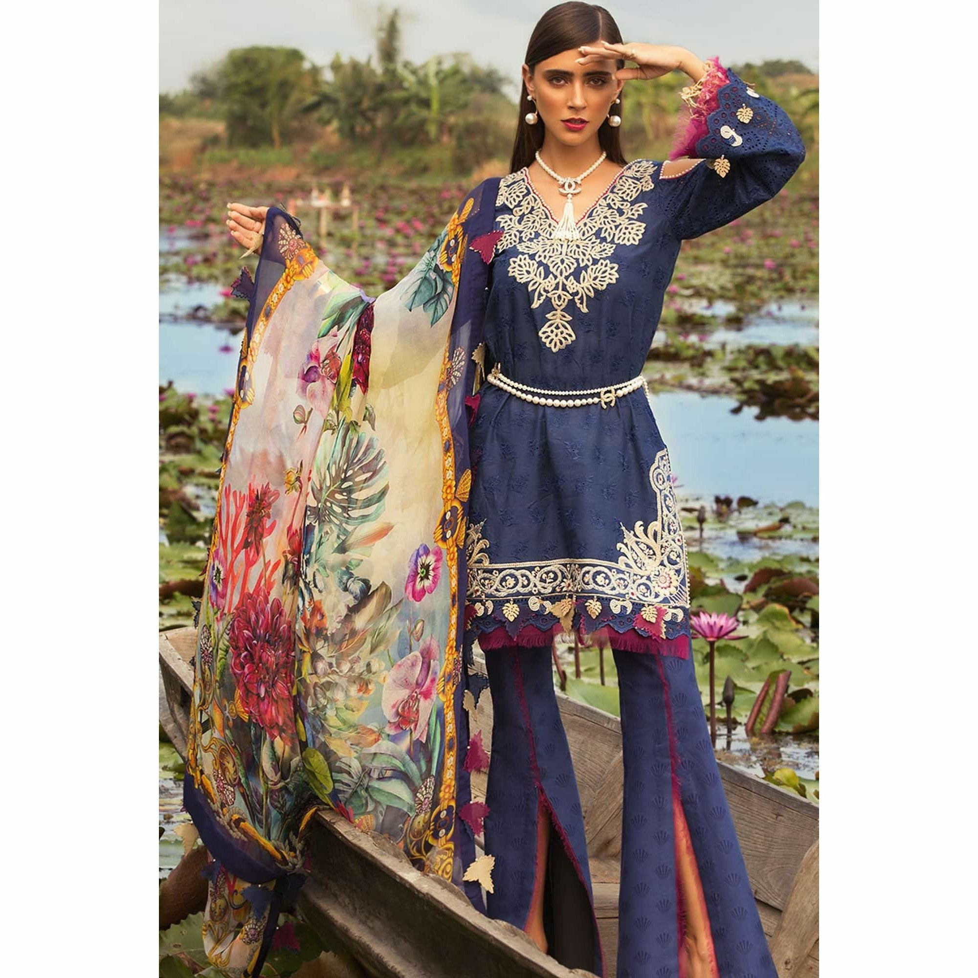 Noor by Saadia Asad | Luxury Lawn 19 - 04-A