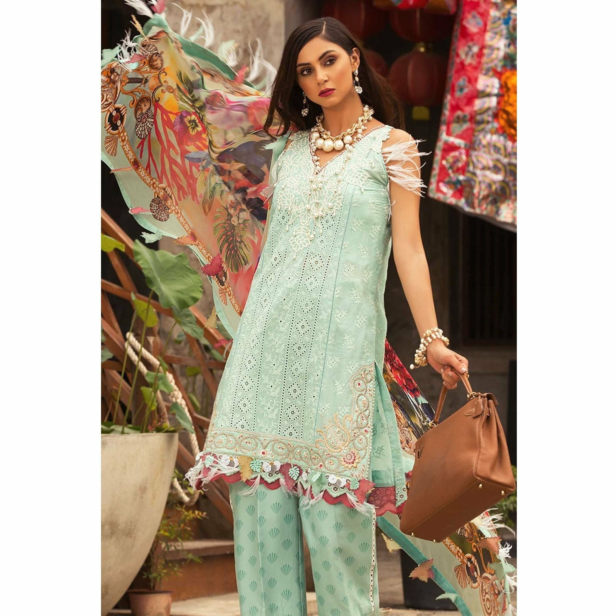 Noor by Saadia Asad | Luxury Lawn 19 - 04-B