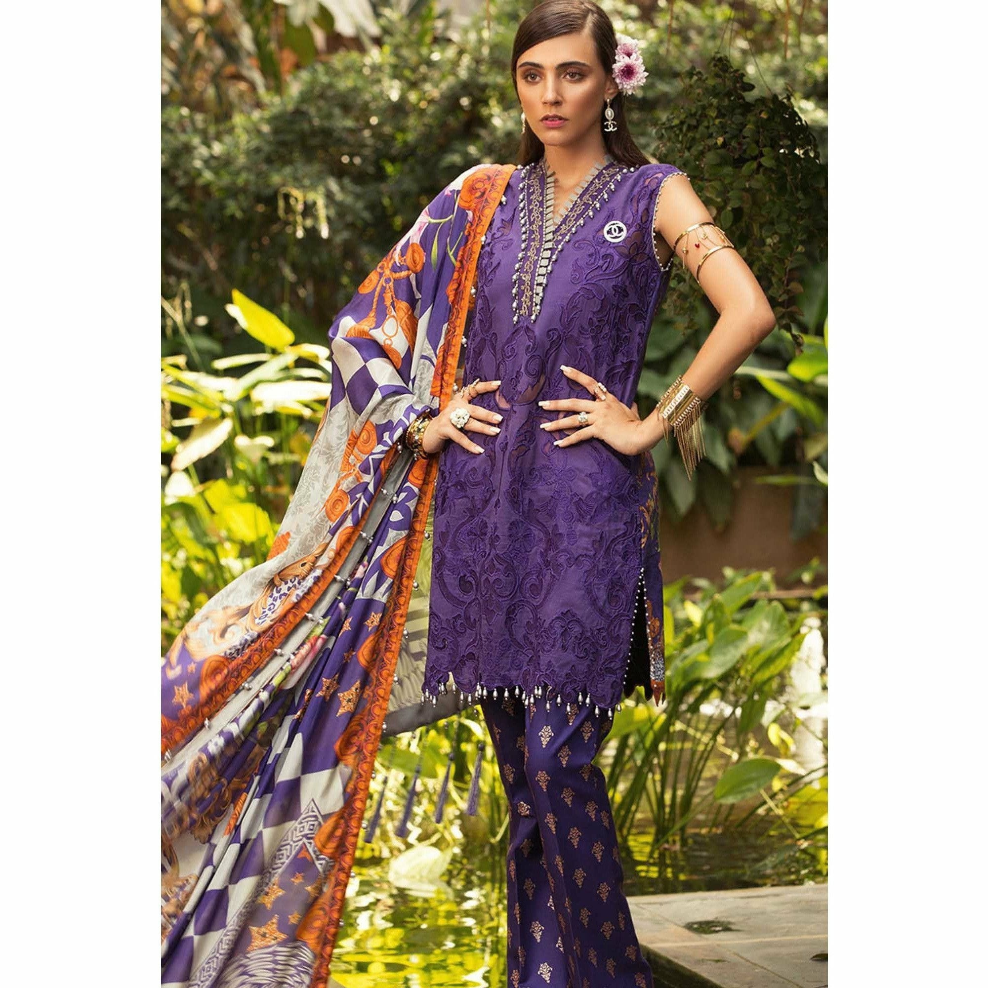 Noor by Saadia Asad | Luxury Lawn 19 - 05-B
