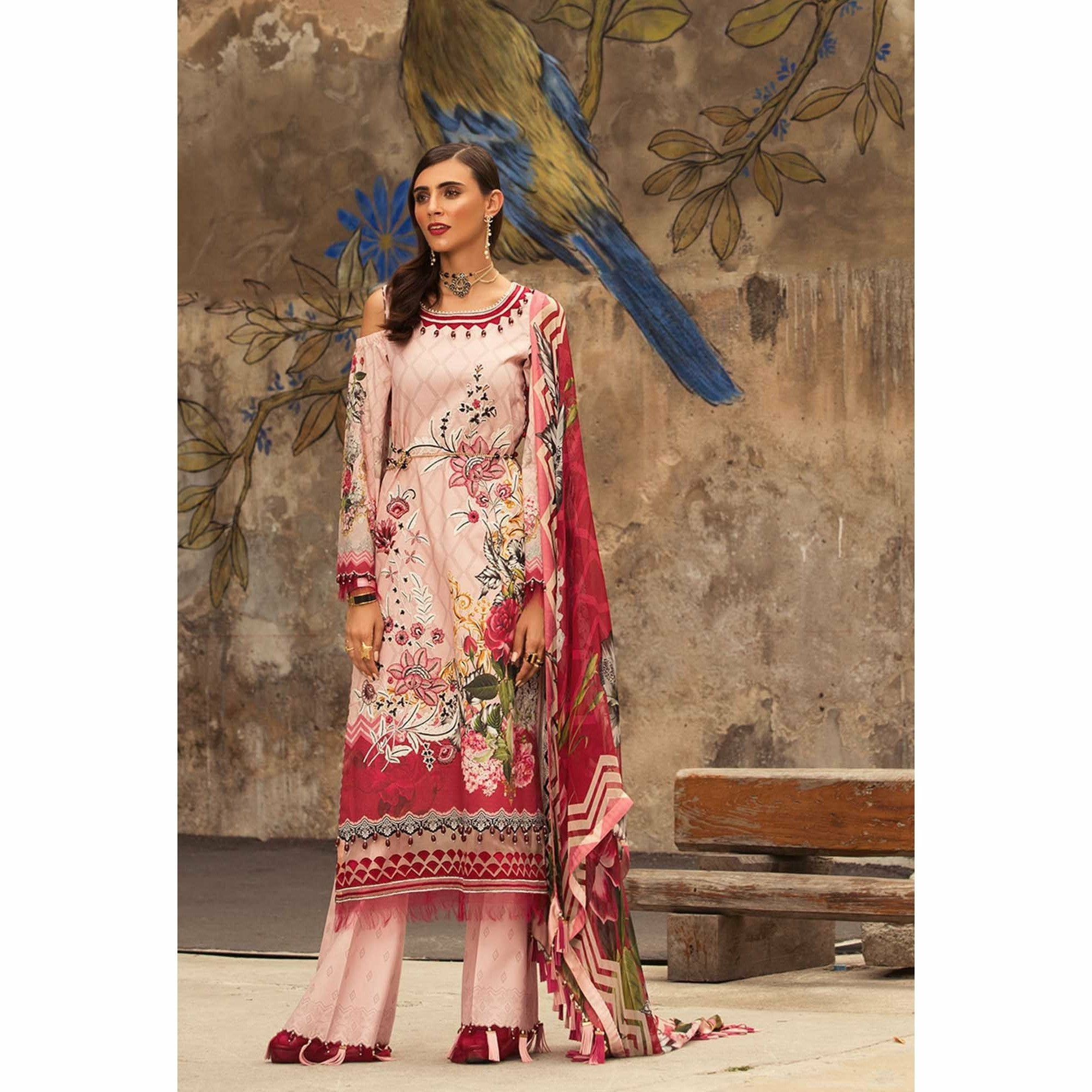 Noor by Saadia Asad | Luxury Lawn 19 - 08-A