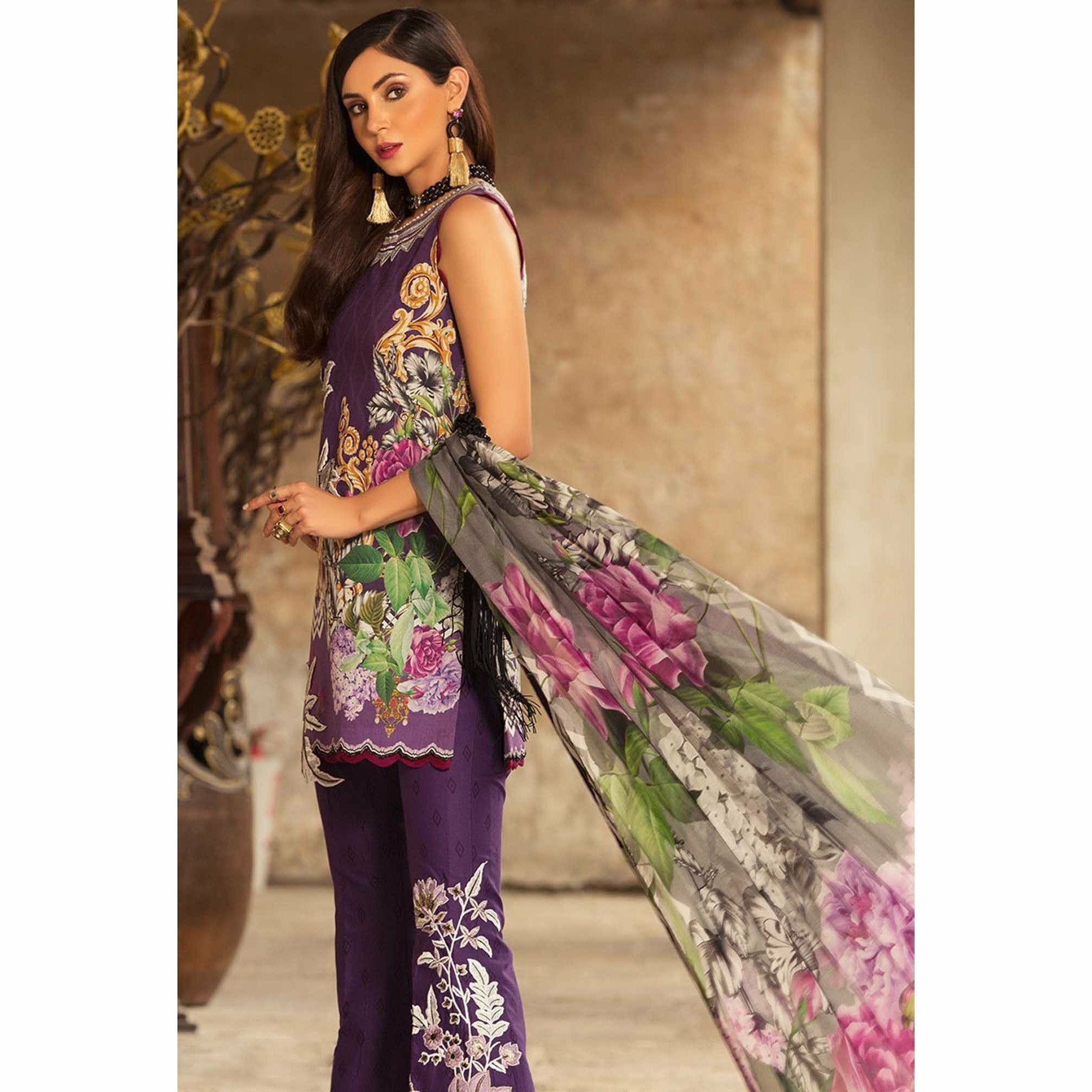 Noor by Saadia Asad | Luxury Lawn 19 - 08-B
