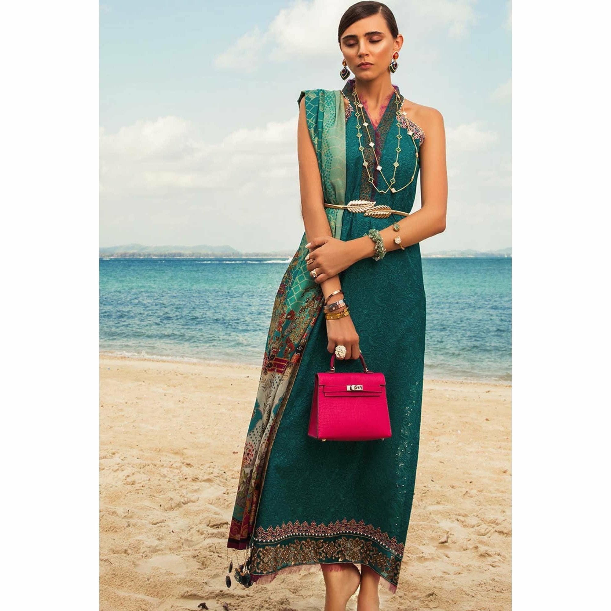 Noor by Saadia Asad | Luxury Lawn 19 - 10-A