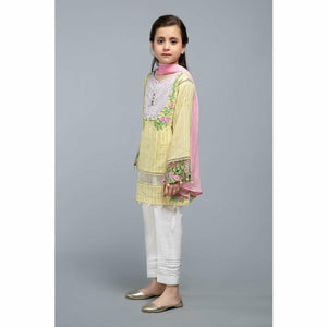 Suit Yellow MKD-SS20-05 - House of Faiza