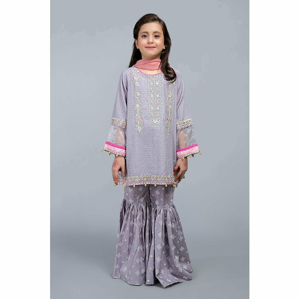 Suit Purple MKD-SS20-07 - House of Faiza
