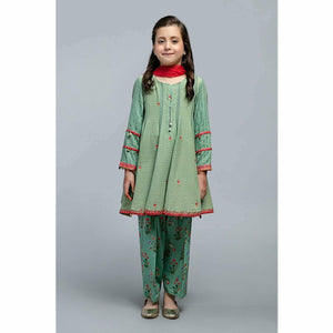 Suit Green MKD-SS20-08 - House of Faiza