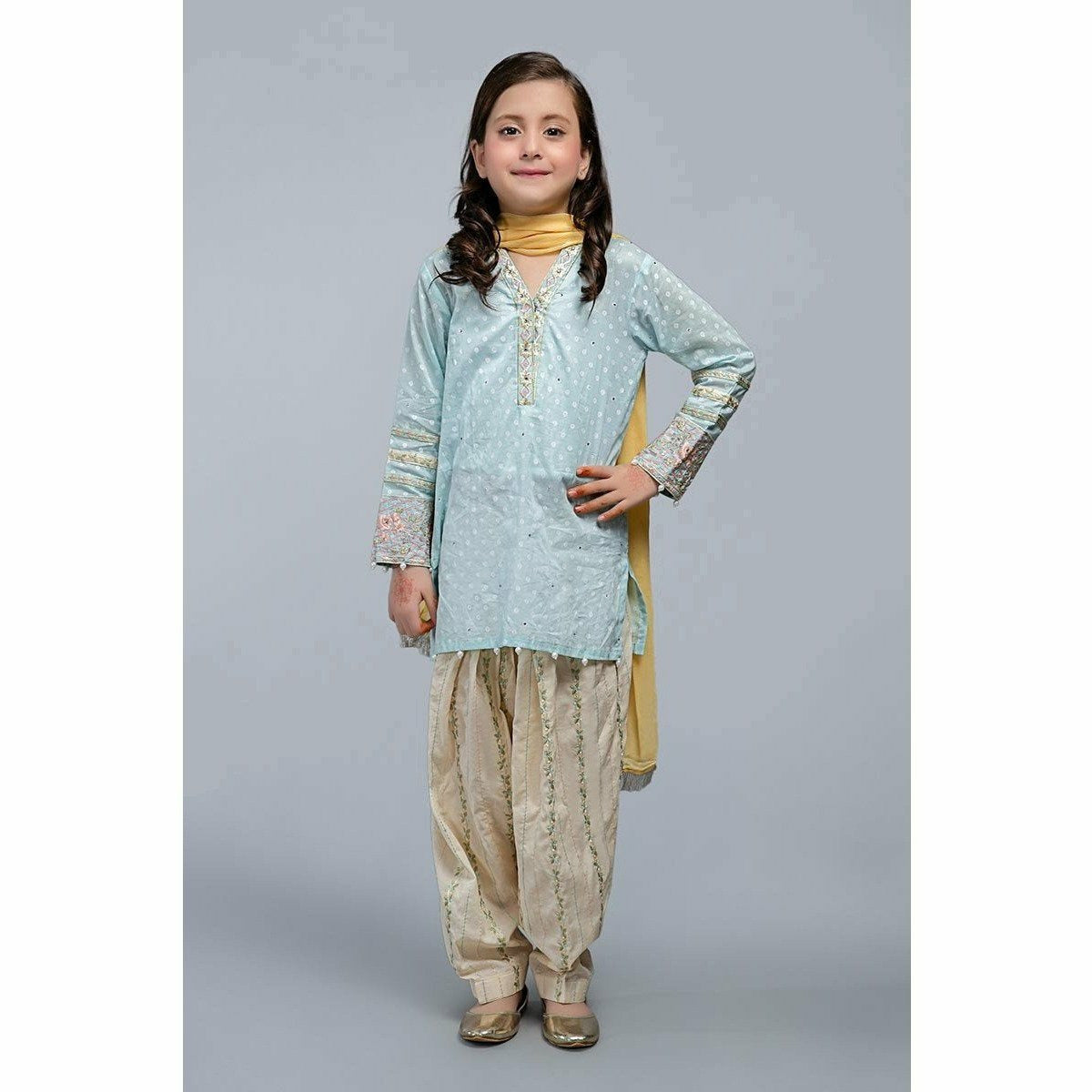 Suit Sky Blue MKD-SS20-09 - House of Faiza