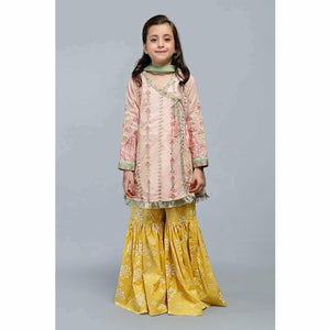 Suit Peach MKD-SS20-12 - House of Faiza