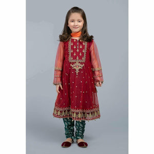 Suit Mahroon MKS-SS20-06 - House of Faiza