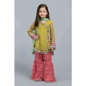 Suit Lime Green MKS-SS20-07 - House of Faiza