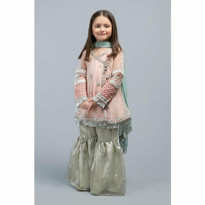 Suit Peach MKS-SS20-09 - House of Faiza