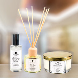 <small>Aromatic Home</small><p>Neroli & Grapefruit Luxury Home Candle, Aromatherapy Reeds and Room Spray</p>