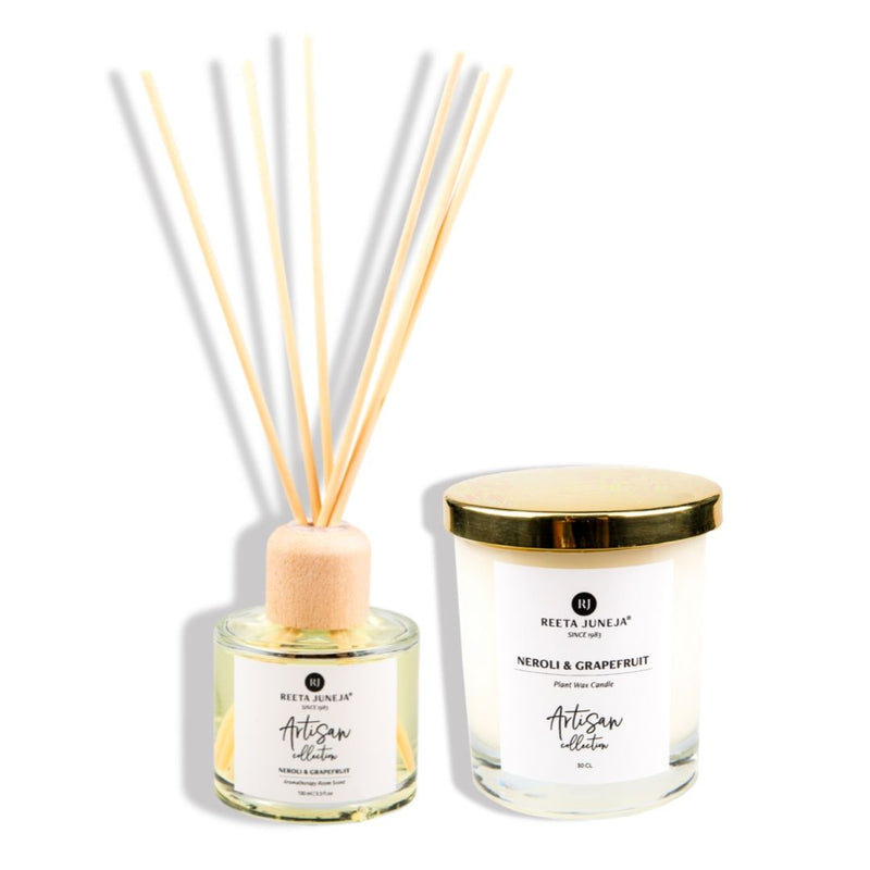 <small>Aromatic Home</small><p>Neroli & Grapefruit Luxury Room Candle & Spray</p>