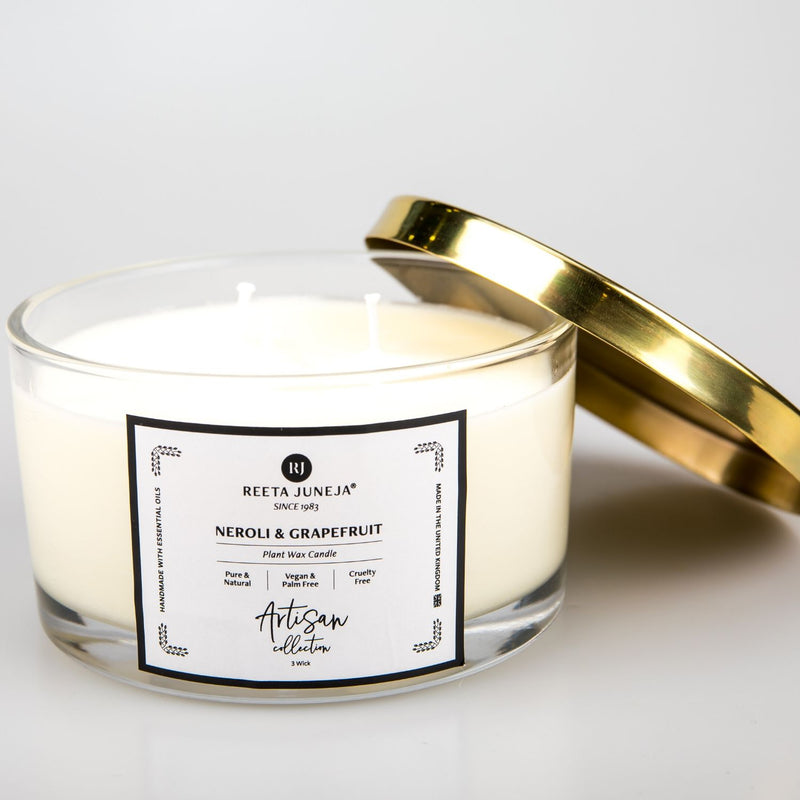 <small>Artisan Collection</small><p>Neroli & Grapefruit Home Candle</p><p><small>(386 g / 13.6 oz)</small></p>