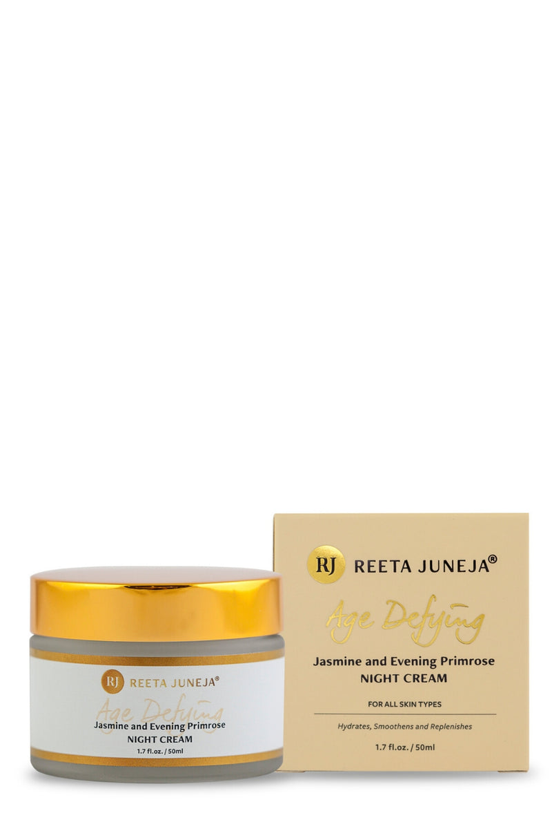 <small>Age Defying</small><p>Jasmine and Evening Primrose Night Cream</p><p><small>(50 ml / 1.7 fl oz)</small></p> - Reeta Juneja