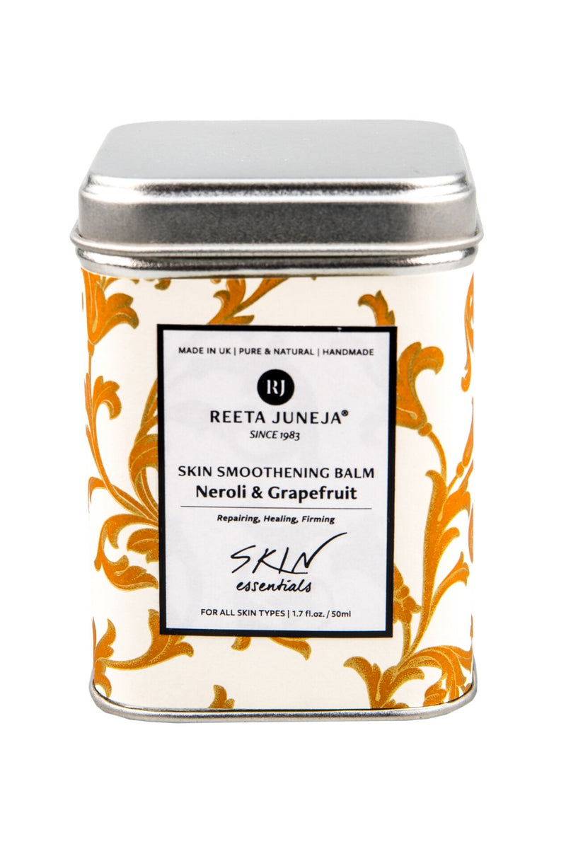 <small>Skin Essentials</small><p>Neroli & Grapefruit Skin Smoothening Balm</p><p><small>(50 ml / 1.7 fl oz)</small></p> - Reeta Juneja