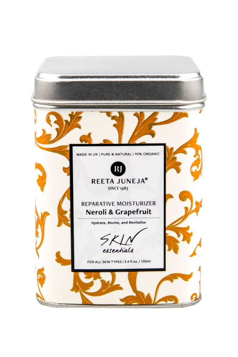 <small>Skin Essentials</small><p>Neroli & Grapefruit Reparative Moisturiser</p><p><small>(100 ml / 3.4 fl oz)</small></p> - Reeta Juneja