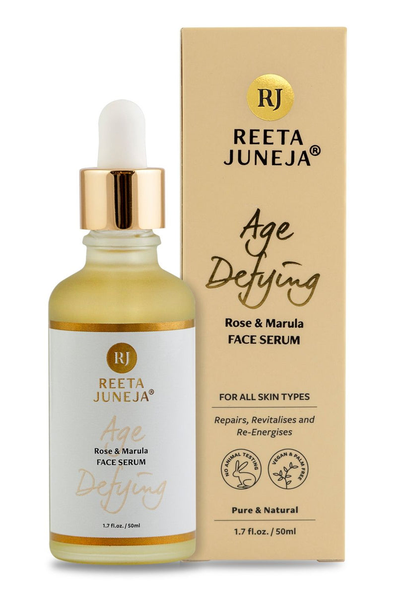 <small>Age Defying</small><p>Rose & Marula Face Serum</p><p><small>(50 ml / 1.7 fl oz)</small></p> - Reeta Juneja