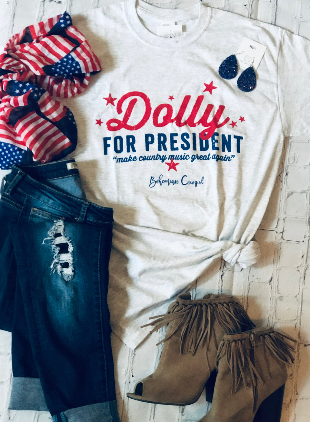 Dolly for President Graphic T-Shirt