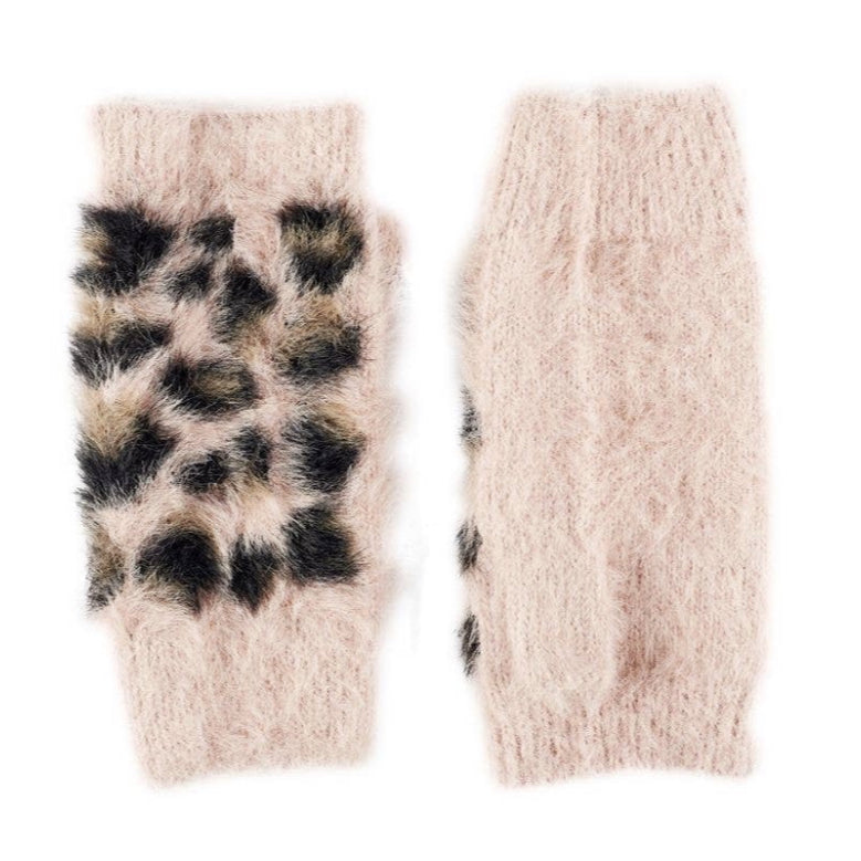 Fuzzy Fingerless Gloves
