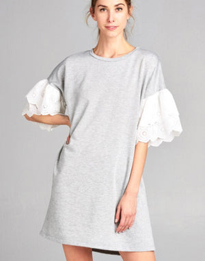 """Summer's Calling Me""Heather Grey Tunic/Dress"