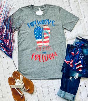 Fireworks, Flip Flops, and Freedom-Heather Gray