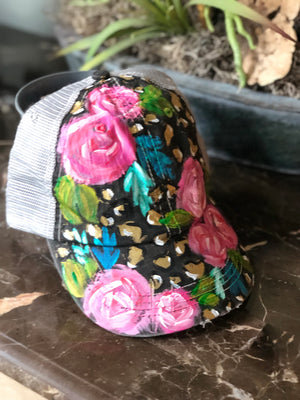 Custom Hand Painted Trucker Hat