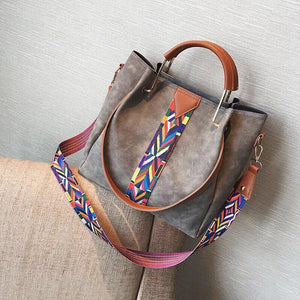 The Hannah Crossbody 2 in 1 Demi  Distressed Purse Set