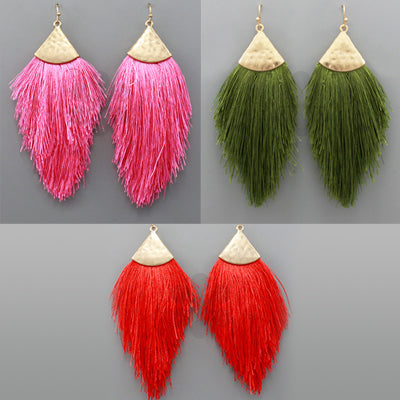 Be the Fringe Triangle Fringe Earrings