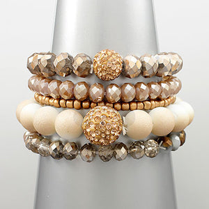 Bella Layered Stretch Beaded Bracelet