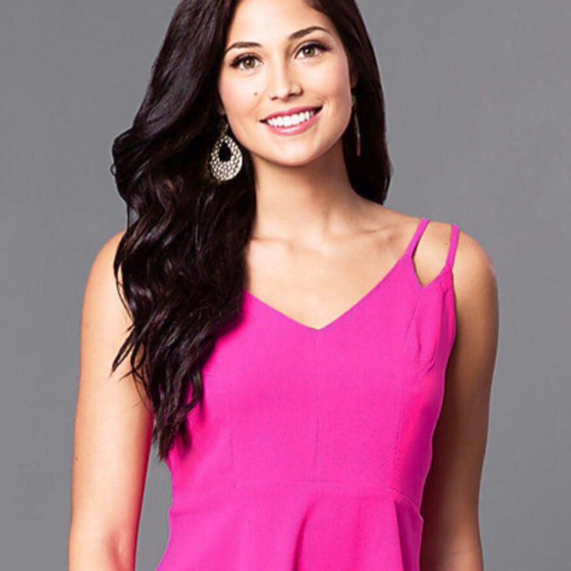 Life Of The Party Hot Fushia Double Strap Dress