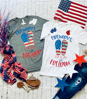 Fireworks, Flip Flops, and Freedom Tee