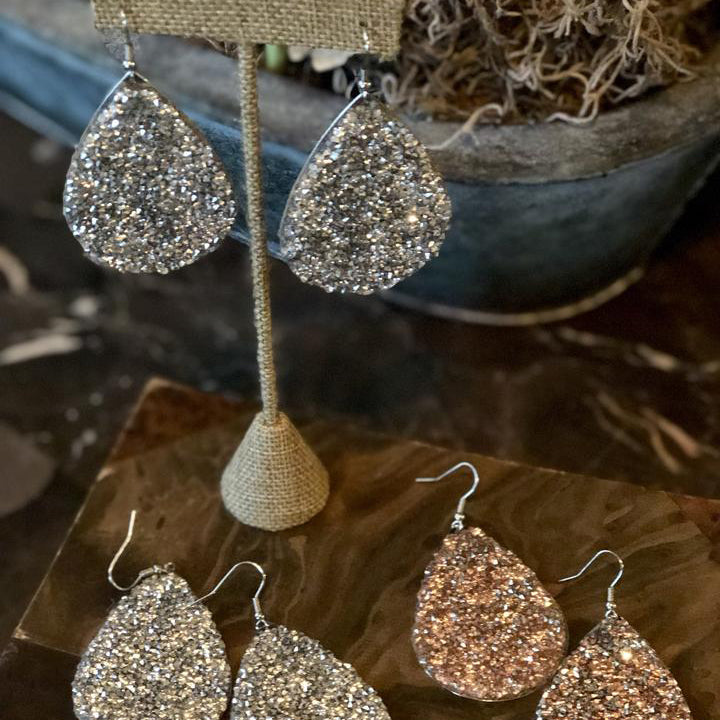 STOP and STARE TEARDROP EARRINGS
