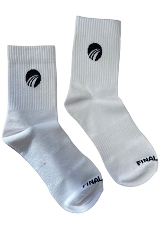 Men's White Crew Socks