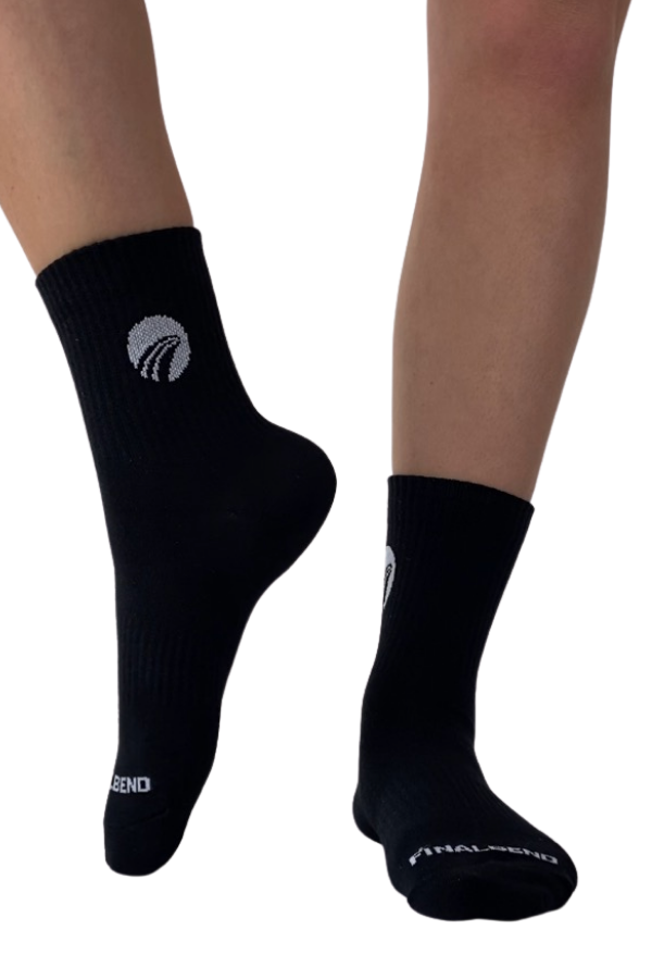 Women's Black Crew Socks