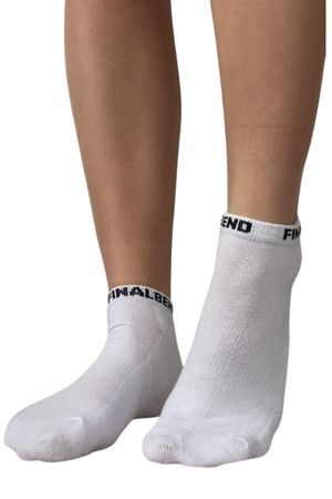 Load image into Gallery viewer, White Ankle Socks